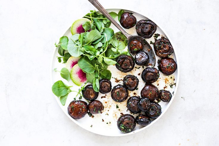 Miso Butter Roasted Mushrooms with Fresh Herbs