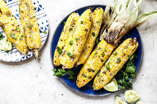Cilantro-Lime Corn on the Cob | www.floatingkitchen.net