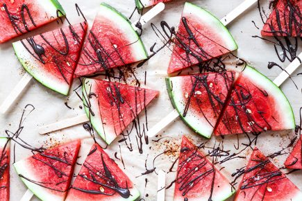 Mezcal Margarita Watermelon Wedges | www.floatingkitchen.net