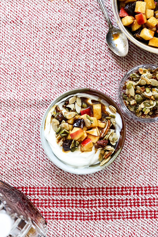 Apple Harvest Yogurt Bowls with Maple-Nut Clusters | www.floatingkitchen.net