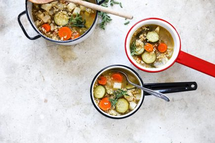 Freekeh Vegetable Soup | www.floatingkitchen.net