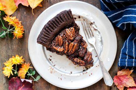 Chocolate Lovers Pecan Pie | www.floatingkitchen.net