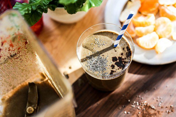 Chocolate Almond Coffee Smoothie