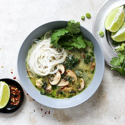 Easy Thai Green Curry Chicken Soup | www.floatingkitchen.net