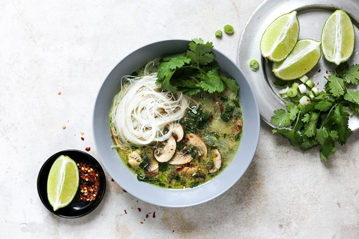 Easy Thai Green Curry Chicken Soup