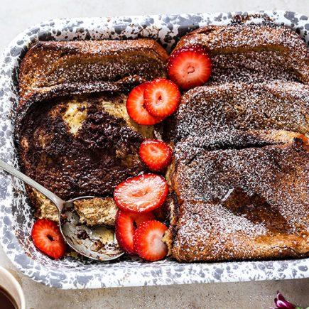 Baked Tiramisu French Toast Casserole | www.floatingkitchen.net