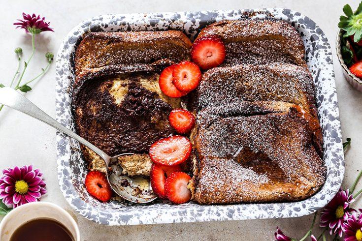 Baked Tiramisu French Toast Casserole