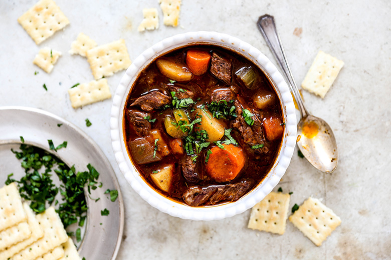 Slow Cooker Beef and Vegetable Stew | www.floatingkitchen.net