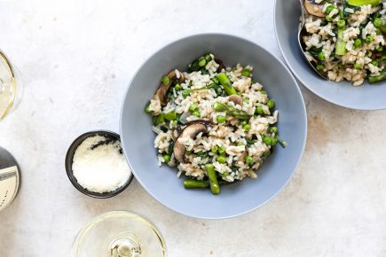 One-Pot Baked Spring Vegetable Risotto | www.floatingkitchen.net