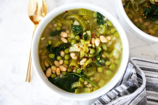 Brothy Greens and Beans with Lemon | www.floatingkitchen.net