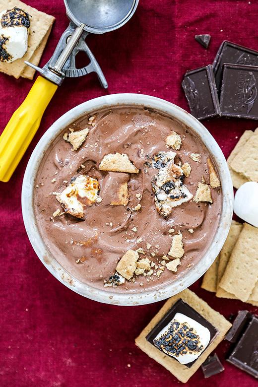 Nutella S'mores Gelato | www.floatingkitchen.net