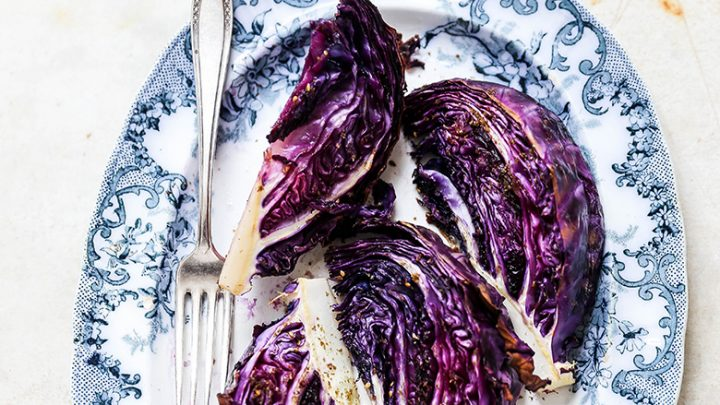 Roasted Red Cabbage Wedges With Za Atar Floating Kitchen