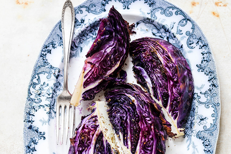 Roasted Red Cabbage Wedges with Za'atar | www.floatingkitchen.net