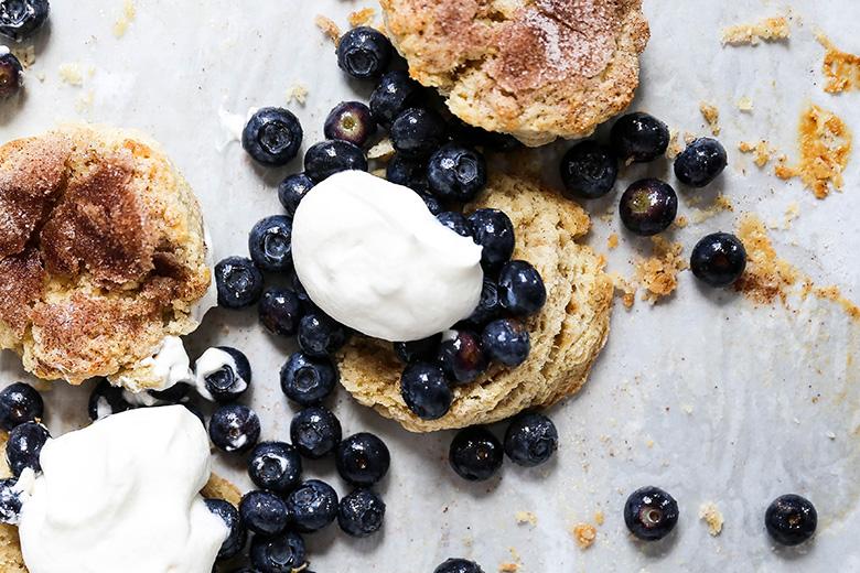Snickerdoodle Blueberry Shortcakes | www.floatingkitchen.net