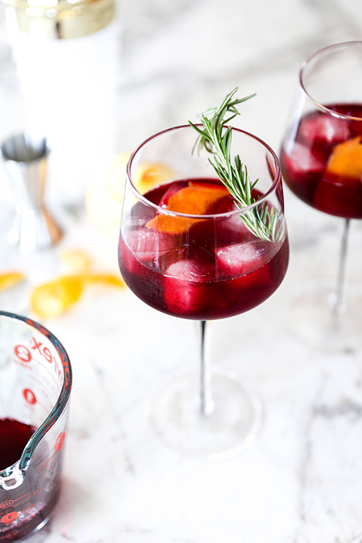 Pomegranate and Beet Gin Cocktail | www.floatingkitchen.net