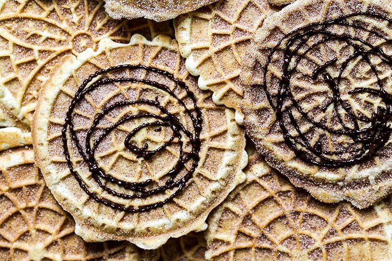 Churro Pizzelles | www.floatingkitchen.net