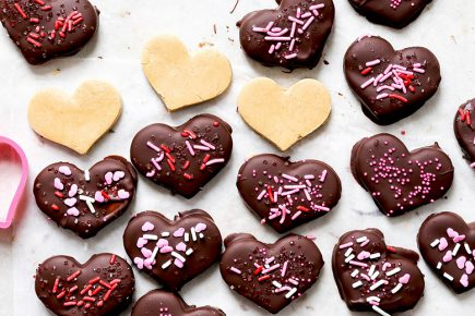 Chocolate Covered Peanut Butter Hearts | www.floatingkitchen.net