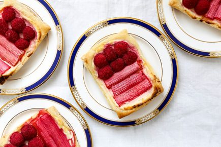 Rhubarb Raspberry Cream Cheese Breakfast Pastries | www.floatingkitchen.net