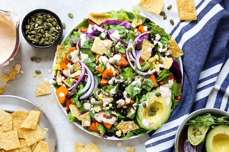 Smoky Sweet Potato Taco Salad