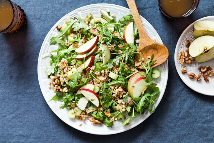 Farro Salad with Apples and Shallots