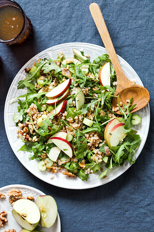 Farro Salad with Apples and Shallots   www.floatingkitchen.net
